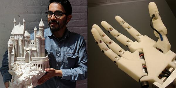 Voorbeelden 3D-printen robot hand, kasteel