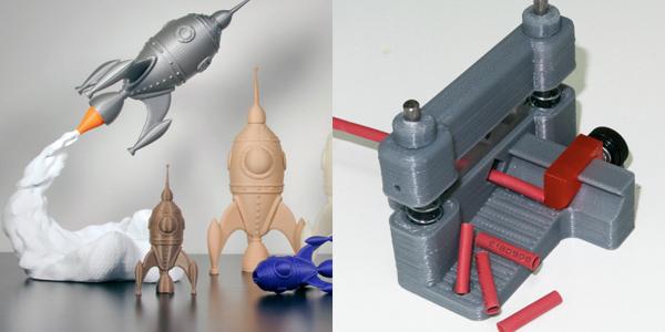 Voorbeelden 3D-printen, speelgoed, machines