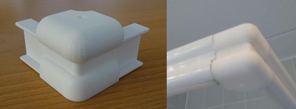 3D-printen onderdeel douchecabine