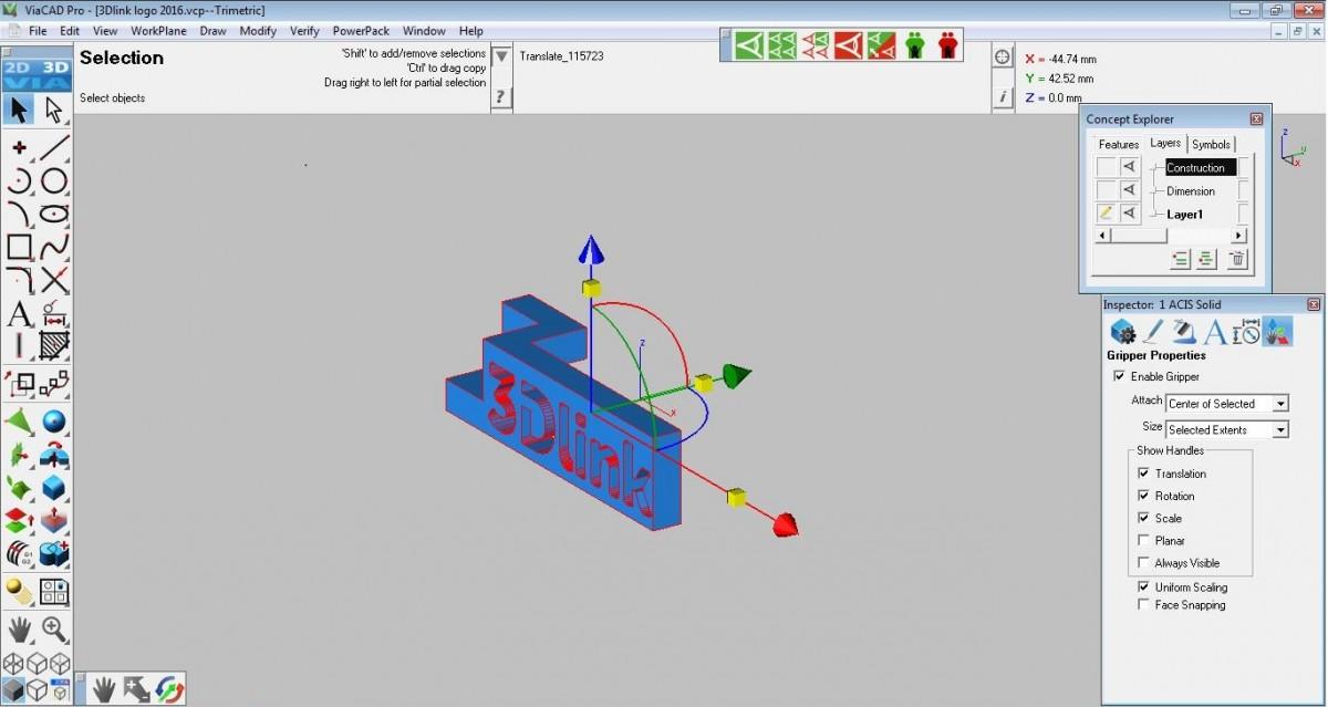 Ik wil een 3d object laten ontwerpen 3dlink for 3d tekenen op computer